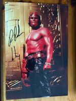 "Ron Perlman Hellboy original signed 12 x 8"" photo certified"