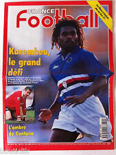 France Football du 12/11/1996; Karembeu le grand défi/ L'ombre de Cantona