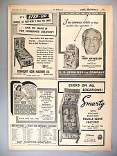 Step-Up Pinball, Cheese Cake Game PRINT AD - 1946 ~ Williams, Jennings, Trimount