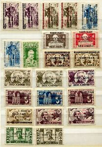 VE0597 NORTH VIET NAM Democratic Republic 1945-46 VIET MINH ISSUES Lot of 22 Min