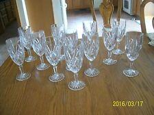 Waterford Brookside Crystal Marquis Stemmed Wine Goblet's Set Of 12 Signed