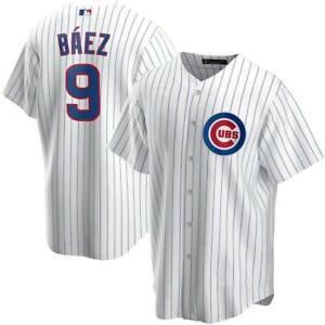 Men's Chicago Cubs Javier Baez White Baseball Jersey Size All Size