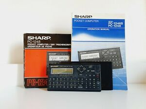 Sharp PC-1248 Pocket Computer Boxed with Manual and Working