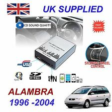 For Seat ALHAMBRA MP3 SD USB CD AUX Input Audio Digital CD Changer Module 8 pin