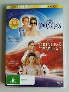 The Princess Diaries and Princess Diaries 2 x DVD disc set VGC Anne Hathaway