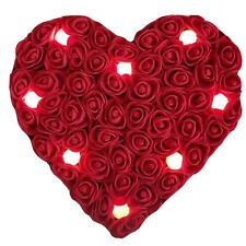Crafted WitH Love 100% Handmade Foam Rose Heart red 25 cm with lamps