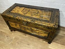More details for vintage oriental chinese carved chest trunk / coffee table . delivery available