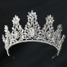 9.5cm High Large Full Crystal Wedding Bridal Party Pageant Prom Tiara Crown