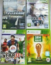 JobLot #4 Games- FIFA13, Football Manager13, Brazil 2014 + Football Manager 2014