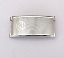NSA folting clasp, STEEL INOX, fit for 18mm vintage bracelet. NOS, swiss made