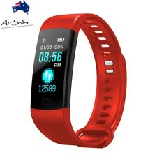 Fitness activity Tracker health sports Watch heart rate BP Smart Band y5 red