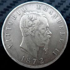 Moneta 5 lire Vittorio Emanuele II 1872  SPL+    ( 1031 )