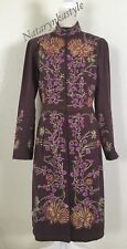 PLENTY Embroidered Coat Jacket By Tracy Reese Size 10