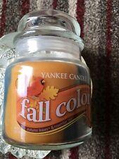 "YANKEE MEDIUM SWIRL JAR ""FALL COLORS"" AUTUMN LEAVES & NOVEMBER RAIN USA 2014"