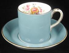 Crown Staffordshire 'Sheraton' Teal Blue Fine Bone China Cup & Saucer