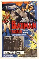 BATMAN AND ROBIN VINTAGE MOVIE POSTER  FILM A4 A3 ART PRINT CINEMA