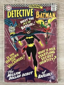 Detective Comics 359 - 1st Barbara Gordon Batgirl, DC Silver Age Hot Key. Fair