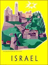 Israel Mt. Zion Jerusalem Tomb King David Vintage Travel Advertisement Poster