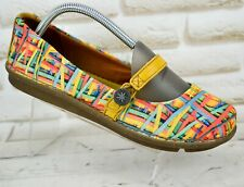 THE ART COMPANY Womens Multicoloured Textile Casual Shoes SlipOn Size 7 UK 40 EU