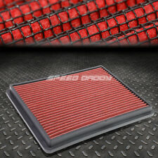 FOR 99-17 SILVERADO/SIERRA RED REUSABLE/WASHABLE DROP IN AIR FILTER PANEL