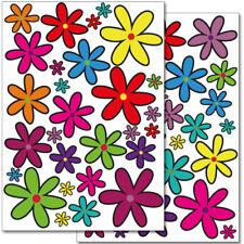 "Wandkings Wandsticker ""Blumen Design 1""  2x A4 Set Aufkleber Deko Wand"