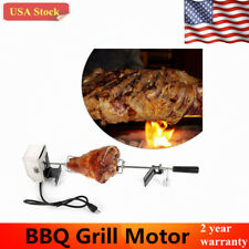 Electric Stainless Steel BBQ Pig Chicken Poultry Rotisserie Grilling Motor Rod