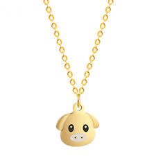Pig Pendant Necklaces For Girls Alloy Zinc Link Chain Colier Animal Bijoux Gift