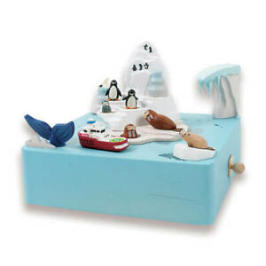 NEW Antarctica Moving Wooden Musical Box | FREE Shipping
