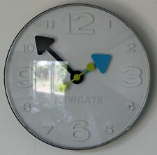 NEW 18cm Newgate Bluggle Wall Clock - White Grey Modern Kitchen Clock Gift