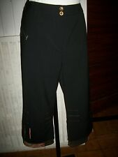 Pantalon court pantacourt polyester noir empiècements PAUSE CAFE 42 W32 16VH35