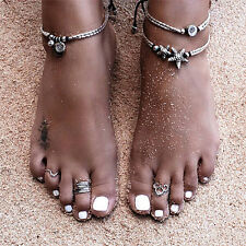 """2"""" Ext Chain Ic146 Anklets Jewelry & Watches 12.5"""" 8mm Hematite Bracelet Silvertone Plated Lobster Clasp"""