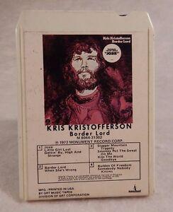 KRIS KRISTOFFERSON 1972 BORDER LORD 8-Track Module 8