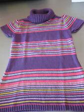 Strickkleid Gr. 104 Kleid Kinder Kurzarm Rollkragen Streifen sehr schön