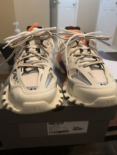 White Orange Balenciaga Track Triple S Sock Speed Racer Size 43 *BEST DEAL*
