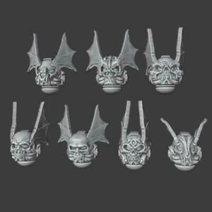 Winged Helmets - Night Lords - Set of 7 - Compatible with Warhammer 40k