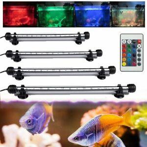 19-112CM 5050 LED Aquarium Light Bar Aqua Plant Coral Fish Tank Lamp White Blue