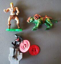 2 Figuren *He-Man + Battle Cat* / Batman mit Wurfscheiben 2003