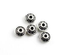 10 perles métal großloch perles dans ANTIK Argent Couleurs avec petits coeurs