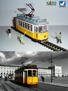 Lisbon Carris Remodelados tram HO/N gauge (HOe) - motorized figures KATO ATLAS