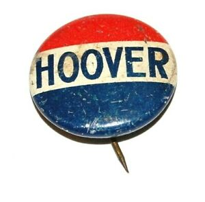 1928 HERBERT HOOVER campaign pin pinback political button presidential election