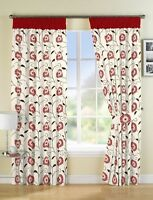 Floral Cream 66 x 90 Ready Made Lined Pencil Pleat Curtains Wine Red Polycotton