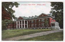 IOOF Home Jackson Michigan 1910c postcard