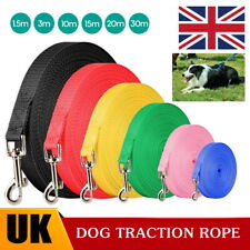More details for 1.5m - 30m extra long pet dog training lead strong leash line walking recall uk