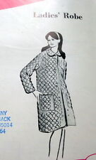 LOVELY VTG 1960s QUILTED ROBE Sewing Pattern 8-10-12 UNCUT