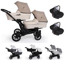 Coche gemelar completo Gemelos 3 piezas Sillas+capazos +sillas de coche grupo 0
