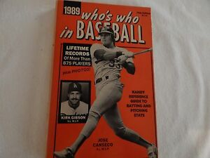 1989 Who's Who In Baseball! VERY GOOD CONDITION!