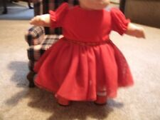bitty baby girl doll clothes red  dress red sparkly shoes & white stocking C117
