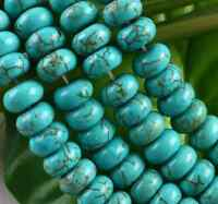 """5x8mm Green Turquoise Abacus Gemstone Loose Beads 15"""""""