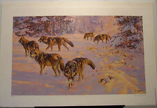 "Donald Grant ""Evening Foray-Gray Wolves"" S/N Ltd Ed Print #234/950"