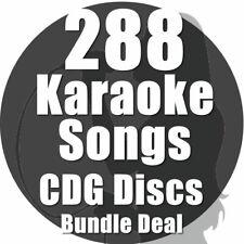 Karaoke Disc Set Bundle CDG CD+G Chart Hits 288 Top Chart Hits 16 Disc Set A